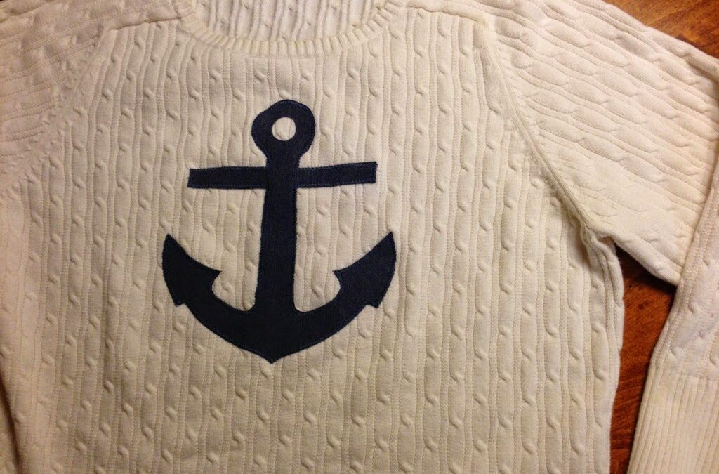 Mom Monday: Anchor Applique Sweater
