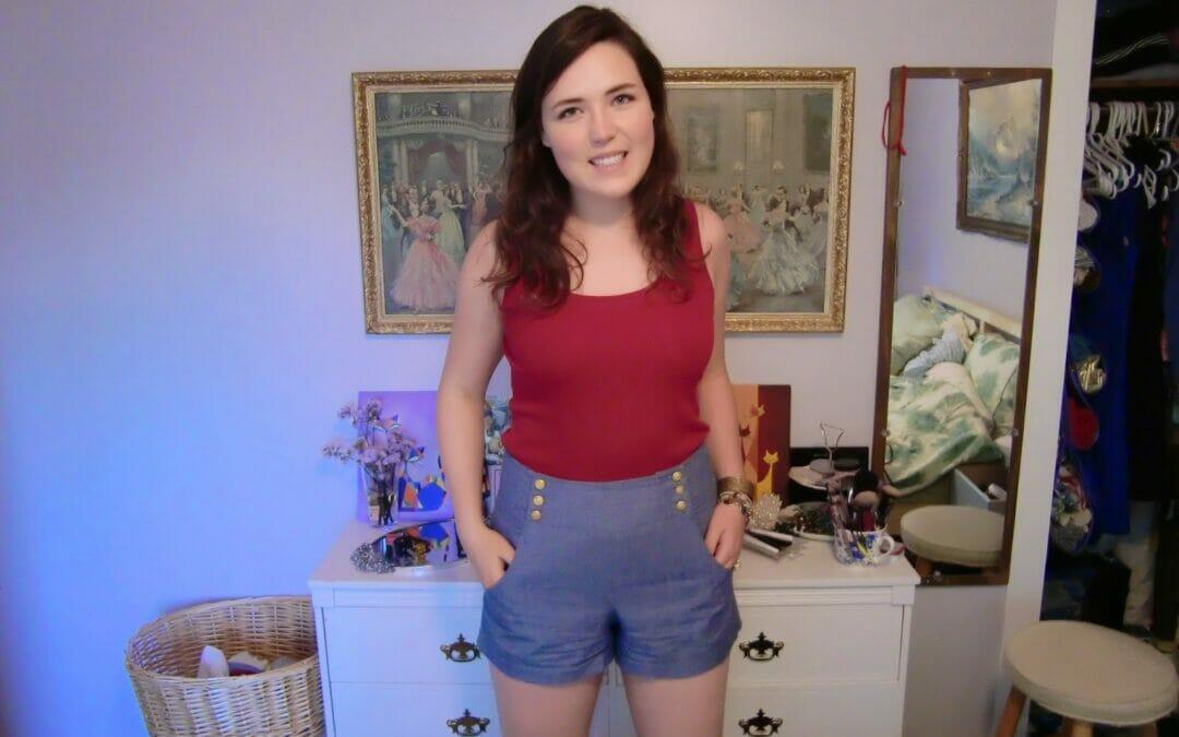 TBT: Nautical High-Waisted Shorts
