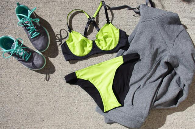 My Everyday Bra: Chartreuse & Black