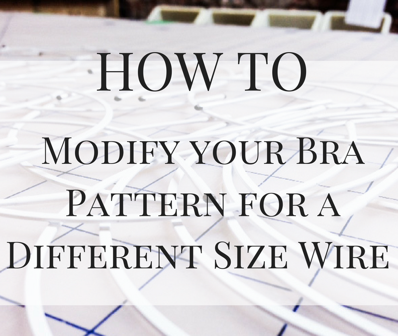 Modifying Your Bra Pattern for a Different Size Wire